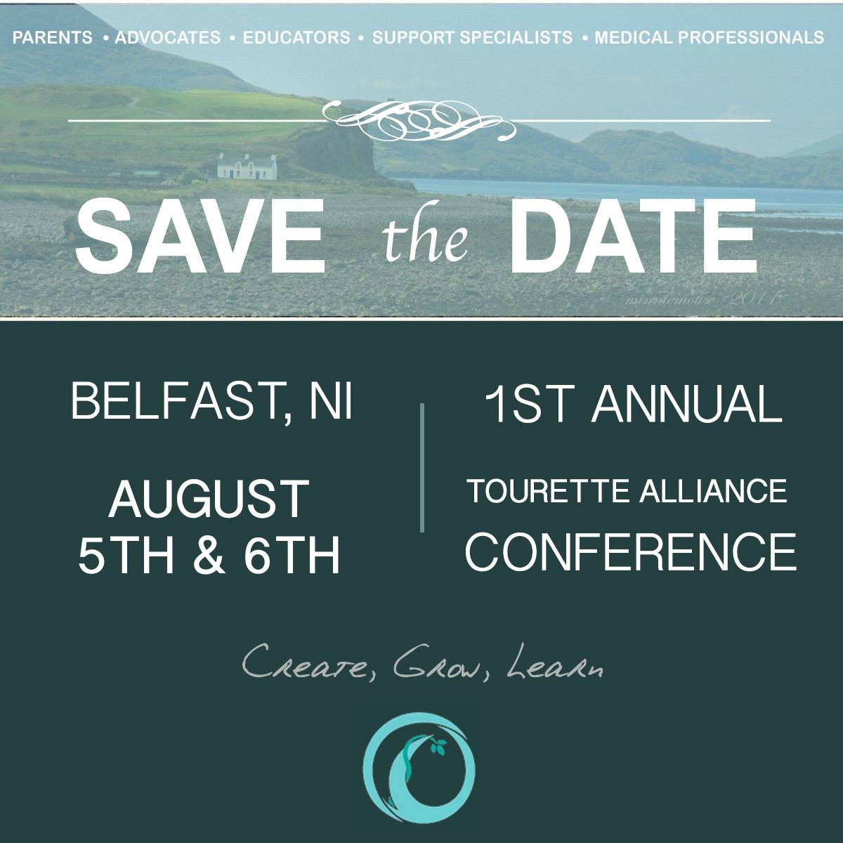 save the date the 1st tourette alliance conference is here